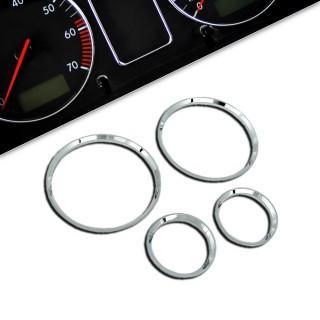 Chromen tellerringen  Opel Corsa B, 4 delig