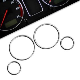 Chromen tellerringen BMW 5-serie E39, 7-serie E38, X5 E53, 4 delig