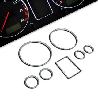 Chromen tellerringen Audi A3 8L / A4 B5 / A6 4B, 7-delig