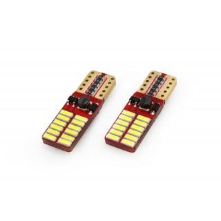 T10 LED Stadslicht met CanBus - 24 SMD (4014) LEDs