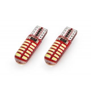 T10 LED Stadslicht met CanBus - 24 SMD (3014) LEDs