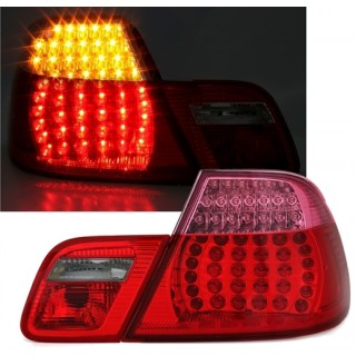 Rood/Witte LED Achterlichten BMW E46 Coupe 1999-2003