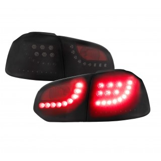 Zwarte LED Achterlichten VW Golf 6 - met dynamische LED knipperlichten