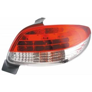 LED Achterlichten Peugeot 206 - Rood/Wit
