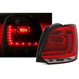 Rood/Witte LED Achterlichten VW POLO 6R 2009-2014
