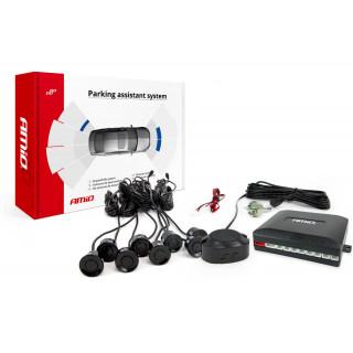 Parkeersensoren / Parkeerhulp met geluid en 8 sensoren - Zwart