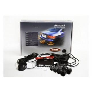Parkeersensoren met geluid en 8 sensoren - Zwart