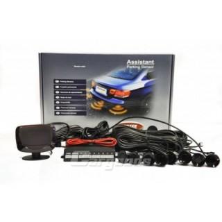 Parkeersensoren met LCD Display en 8 sensoren - Zwart