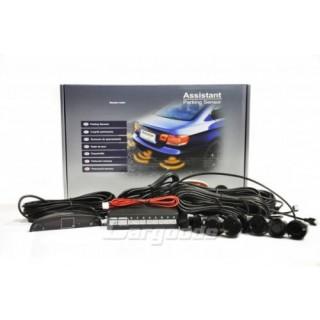 Parkeersensoren met LED Display en 8 sensoren - Zwart