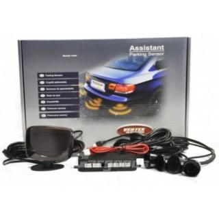 Parkeersensoren met LCD display en 4 sensoren - Zwart