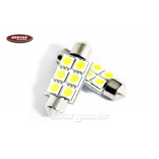 LED Buislampjes - 39mm met 6 SMD LEDS - CanBus