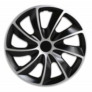 Wieldoppen Rotar Zilver Zwart 15 inch - Set van 4