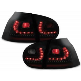 Zwart/Smoke LED achterlichten Vw Golf 5 met dynamische LED knipperlichten
