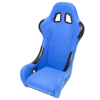 Blauwe Stoffen Sportstoel / Kuipstoel - Vaste rugleuning
