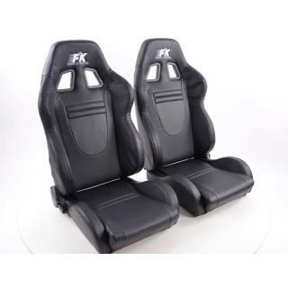 Sportstoelen RaceCar - Zwart met stoelverwarming