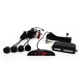 Parkeersensoren met LED display en 4 sensoren - Zwart