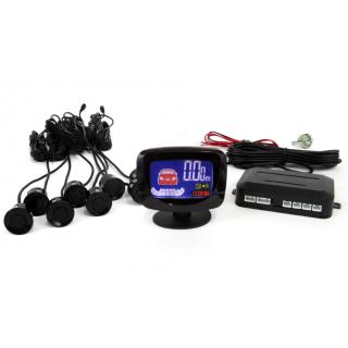 Parkeersensoren / Parkeerhulp met LCD Display en 8 sensoren - Zwart
