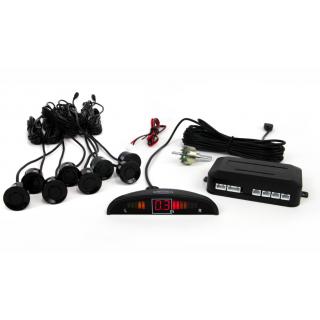 Parkeersensoren / Parkeerhulp met LED Display en 8 sensoren