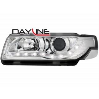 Koplampen met LED verlichting VW PASSAT 35I / B4  - Chroom