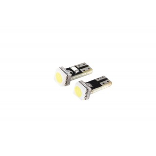 Witte T5 Steeklampen met 1 SMD LED - Canbus
