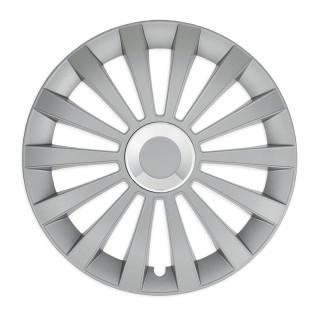 Wieldoppen Meridian zilver met ring 16 inch - 4 stuks