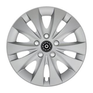 Wieldoppen Storm X zilver chroom 14 inch - 4 stuks