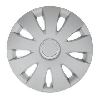 Wieldoppen Aura zilver met ring 14 inch - 4 stuks