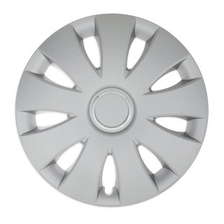 Wieldoppen Aura zilver met ring 16 inch - 4 stuks