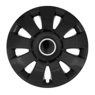 Wieldoppen Aura zwart met ring 14 inch - 4 stuks